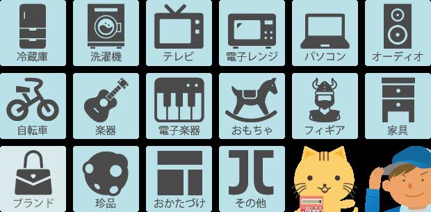 名古屋のリサイクルショップ・買取品目一例